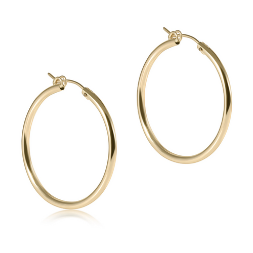enewton Smooth Gold Hoop Earrings - 1.25""