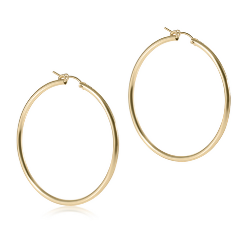enewton Smooth Gold Hoop Earrings - 2""