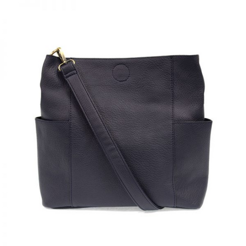 Joy Susan - Kayleigh Side Pocket Bucket Bag - Navy