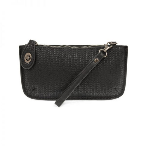 Joy Susan - Woven Crossbody Wristlet Clutch - Black