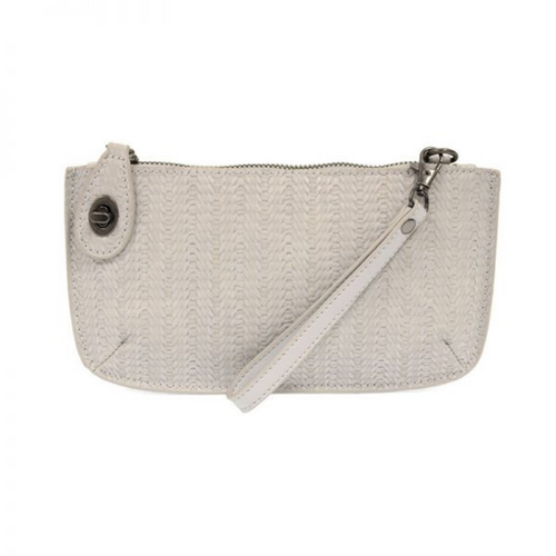 Joy Susan - Woven Crossbody Wristlet Clutch - Gray