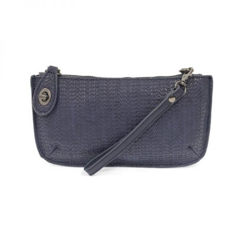 Joy Susan - Woven Crossbody Wristlet Clutch - Navy