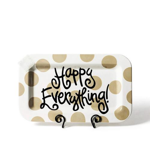 Happy Everything Mini Rectangle Platter - Neutral Dot