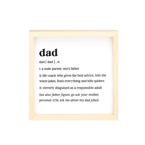 Dad Definition Mini Sign