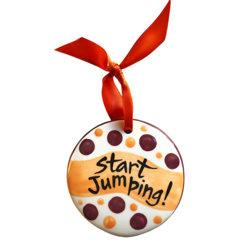 Hand Painted Start Jumping Ornament