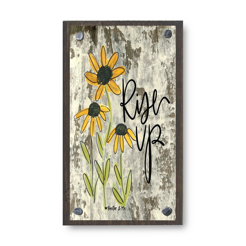 Rise Up Black Eyed Susans Wood Block