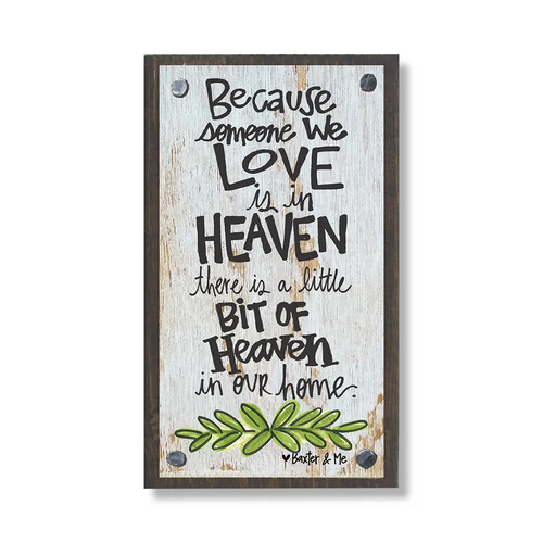 Heaven Love Wood Block