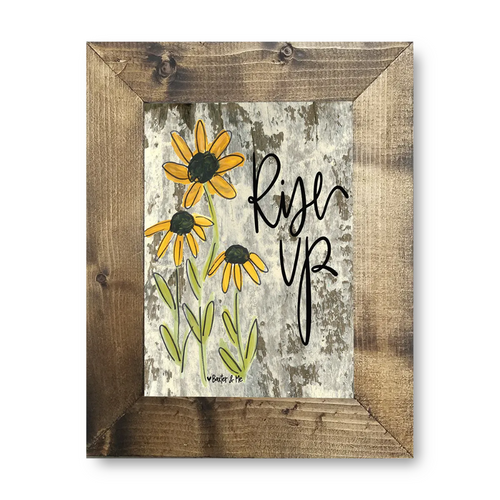 Rise Up Black-Eyed Susan Framed 8x10 Art