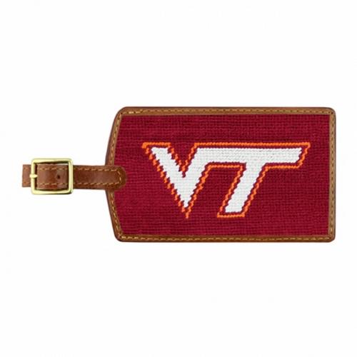Needlepoint Luggage Tag - Virginia Tech