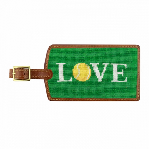 Needlepoint Luggage Tag - Love All