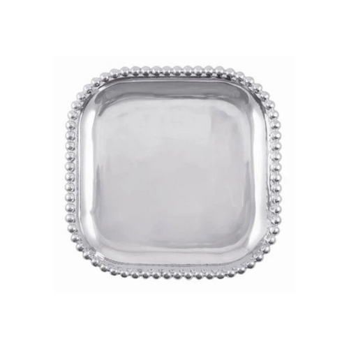 Mariposa Pearled Square Platter - Small