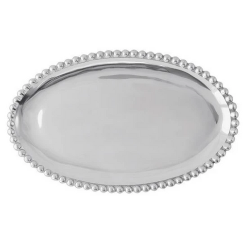 Mariposa Pearled Oval Platter - Small