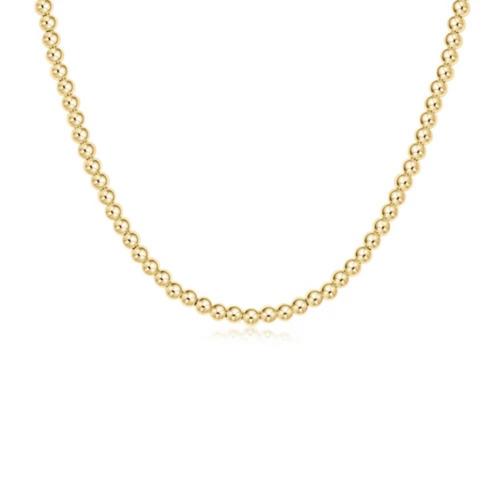 "enewton 17"" Choker Classic Gold 4mm Bead"