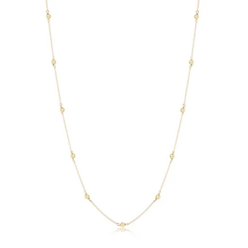 """enewton 41"""" Necklace Simplicity Chain Gold - 4mm Bead"""
