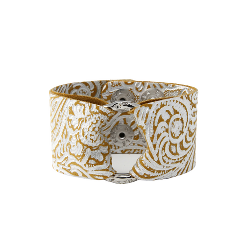 Keva Leather Cuff - Carved Terracotta