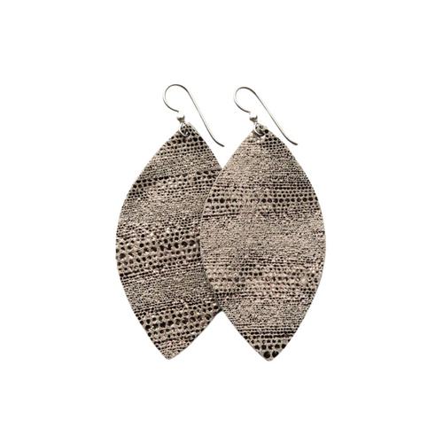 Keva Large Leather Earrings - Luna