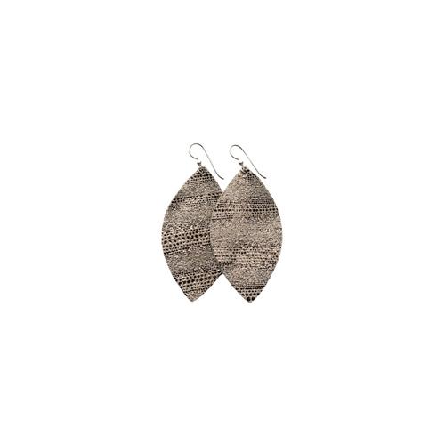 Keva Small Leather Earrings - Luna
