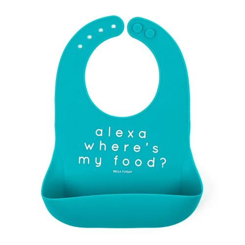 Alexa Where's My Food? Silicone Bib