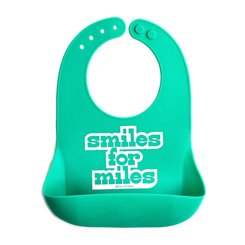 Smiles For Miles Silicone Bib
