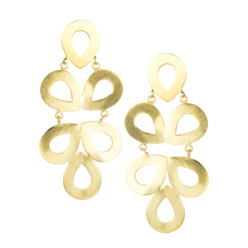 Lisi Lerch Ginger Brushed Gold Earrings