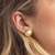 eNewton Athena Gold Stud Earrings - Mother of Pearl