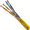 1000ft Cat6 Yellow Plenum Cable Pull Box 066-660/P/YL 23AWG UTP 8C Solid Bare Copper 550MHz