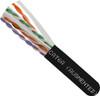 1000ft Spool CAT6A Black Cable Unshielded UTP Plenum CMP