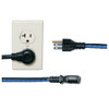 "20 Pack 12"" IEC power cord, 90 degree L"