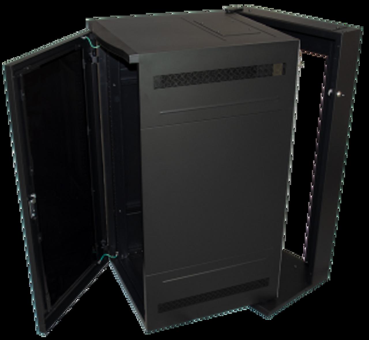 18u 28 d wall mount server rack mesh door great lakes case gl36wdxm