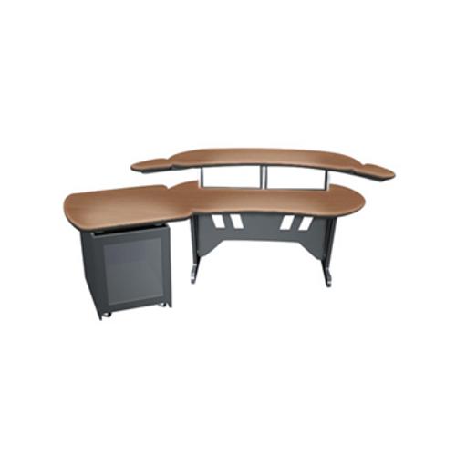 ESUR Desk with Outboard Rack Honey Maple ESUR+S12D-HM