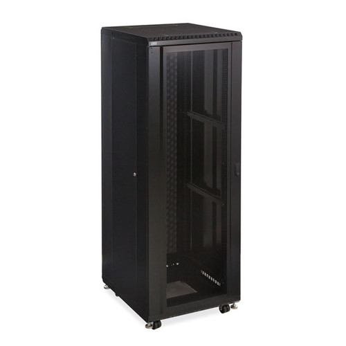 "Kendall Howard 3102-3-024-37 - 37U LINIER Server Cabinet - Convex/Glass Doors - 24"" Depth"
