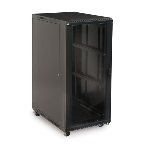 "Kendall Howard 3101-3-001-27 - 27U LINIER Server Cabinet - Glass/Solid Doors - 36"" Depth"