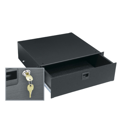 3u Rackmount Drawer with keylock and pull latch