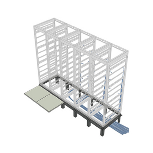 "1 Bay Rack Riser Base 42""D SNE 30""W Racks RIB-1-SNE30-42"