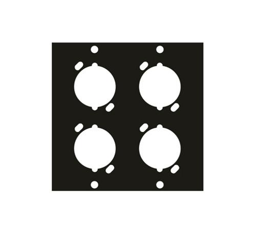 UCP Module Four XLR Female Punchouts Middle Atlantic UNIV4