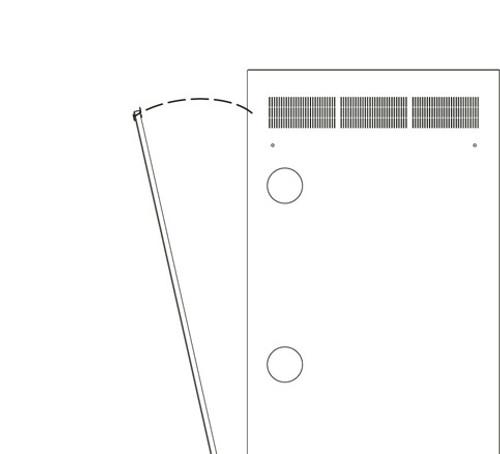 24u WR Rack Rear Access Panel Middle Atlantic WR-RAP-24