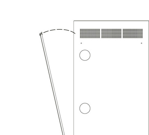 37u WR Rack Rear Access Panel Middle Atlantic WR-RAP-37