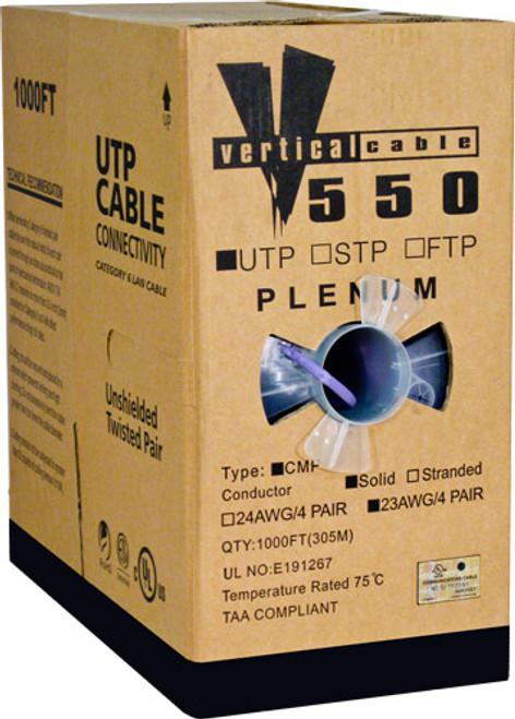 1000ft Cat6 Plenum Cable Pull Box 066-662/P/PR Purple