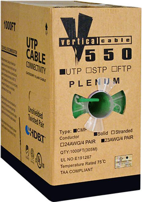 1000ft Cat6 Plenum Cable Pull Box 066-556/P/GR