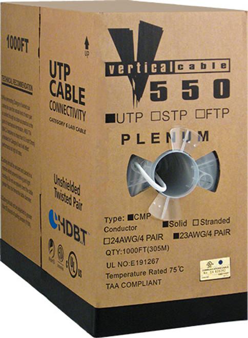 1000ft Cat6 Plenum Cable Pull Box 066-559/P/WH