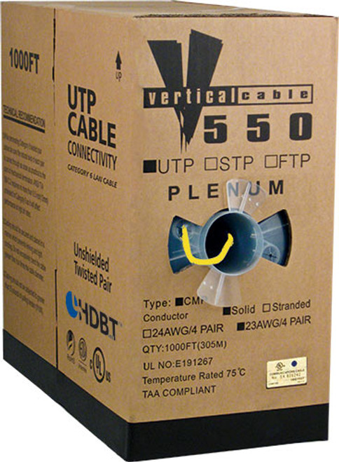 1000ft Cat6 Plenum Cable Pull Box 066-660/P/YL