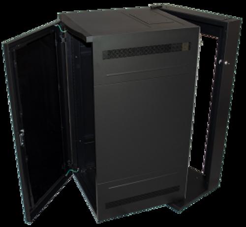 """25U 28""""D Wall Mount Server Rack Mesh Door Great Lakes Case GL48WDXM"""