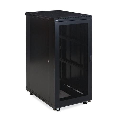 """Kendall Howard 3107-3-001-27 - 27U LINIER Server Cabinet - Vented/Vented Doors - 36"""" Depth"""