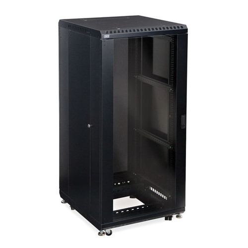 "Kendall Howard 3103-3-024-27 - 27U LINIER Server Cabinet - Glass/Glass Doors - 24"" Depth"