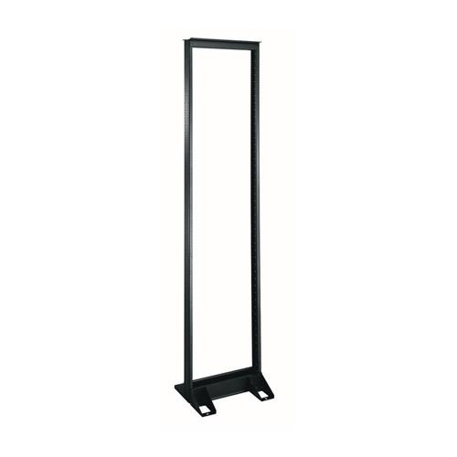 """RL1038 38u 19"""" Black Steel Relay Rack"""