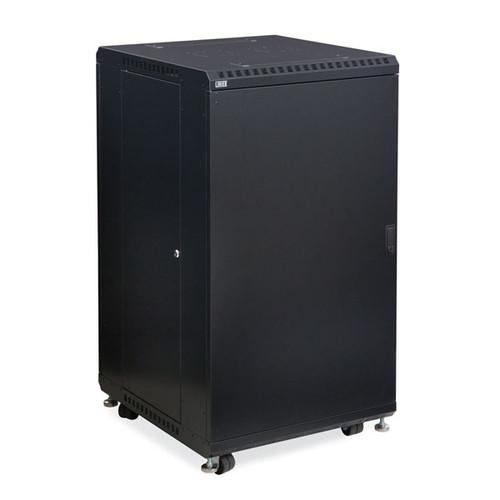 "Kendall Howard 3106-3-024-22 - 22U LINIER Server Cabinet - Solid/Vented Doors - 24"" Depth"