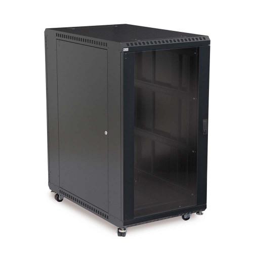 22U Open Frame Server Rack - No Doors - 24 Depth