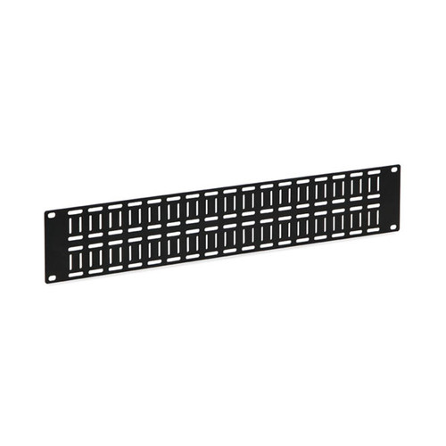 Kendall Howard 1903-1-002-02 - 2U Flat Cable Lacing Panel