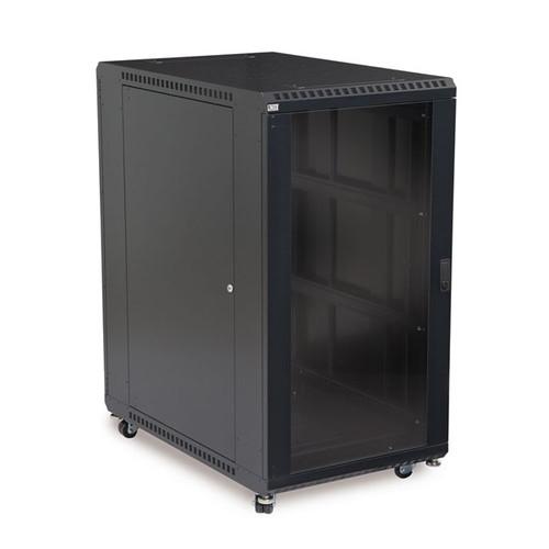 "Kendall Howard 3103-3-001-22 - 22U LINIER Server Cabinet - Glass/Glass Doors - 36"" Depth"