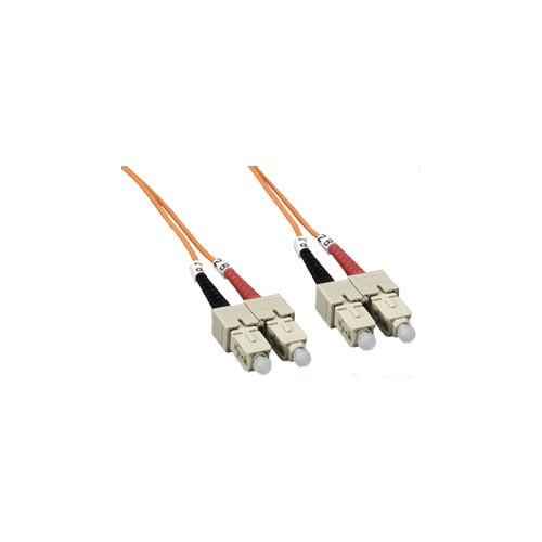 15' SC-SC Multi-Mode, Duplex Fiber Optic Cable 50 Micron